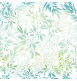 pastel blue green tropical leaves summer vector image vector image