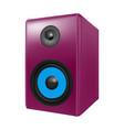 photo realistic audio speakers in vector image