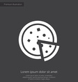 pizza premium icon vector image