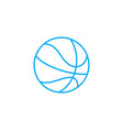 playing basketball linear icon concept playing vector image vector image
