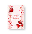 rectangular brochure with scarlet hearts vector image