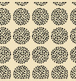 retro seamless pattern with dotted circles vector image