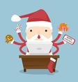 Santa Claus busy vector image vector image