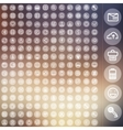 set of icons for web and user interface design vector image vector image