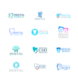 Set of logos dental care clinic dentistry for kids vector image vector image