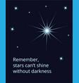 shining expolosing supernova star on dark sky vector image