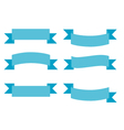Simple Ribbons Group Set vector image vector image