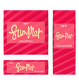summer banners creative volumetric pattern vector image