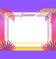 summer poster place for text vector image