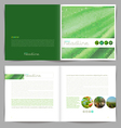 Template booklet design cover and inside pages vector image vector image