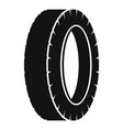 turning tire icon simple style vector image vector image