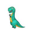 tyrannosaurus t-rex isolated green dinosaur dino vector image vector image