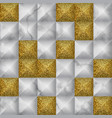 white and gold glitter marble 3d geometric vector image vector image