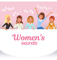 young pretty girls loudly laughing women s vector image vector image