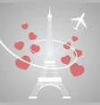 eiffel tower on grey vector image