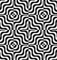 Black and white alternating wavy squares vector image