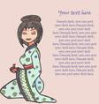 Hand drawn geisha set vector image