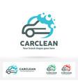 car wash logo vector image