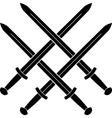knot from medieval swords vector image