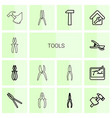 14 tools icons vector image vector image