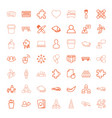 49 group icons vector image vector image