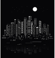 Abstract city silhouette vector | Price: 1 Credit (USD $1)