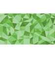Abstract green lowploly of many triangles vector image vector image