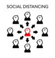 abstract social distancing background vector image