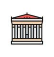 acropolis athens greece landmark flat vector image vector image