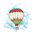 Air balloon and watercolor blots