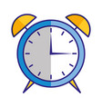 alarm clock alert isolated image vector image vector image