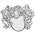aristocratic emblem No6 vector image vector image