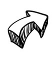 arrow doodle draw vector image vector image