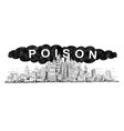 artistic drawing of city covered by poisonous vector image vector image