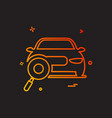 auto workshop search car icon design vector image