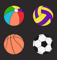balls set color vector image