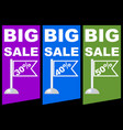 big sale discount percent colored label with vector image