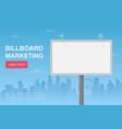 billboard city marketing landing page vector image