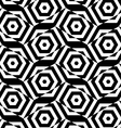 Black and white alternating rectangles cut through vector image