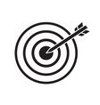 black target with arrow dart aim in the center vector image vector image