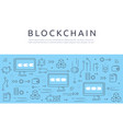 blockchain technologie process abstract vector image vector image