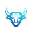 buffalo head logo vector image vector image