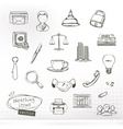 Business sketches of icons set vector image vector image
