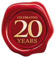 celebrating 20 years vector image vector image