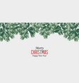 christmas decorative branches with mistletoe vector image vector image