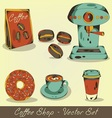 Coffee shop set vector image
