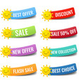 colorful collection labels isolated white vector image