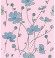 cosmos flowers in blue vector image vector image