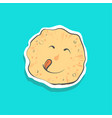 cute happy pancake with toungue sticker fashion vector image vector image