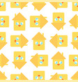 cute house pattern funny home cartoon style vector image vector image